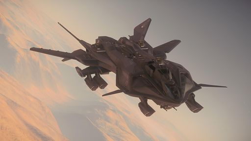 Retaliator flying over Daymar banking right - Front Starboard.jpg