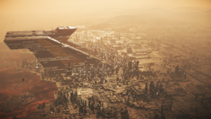 Aerial view of Lorville