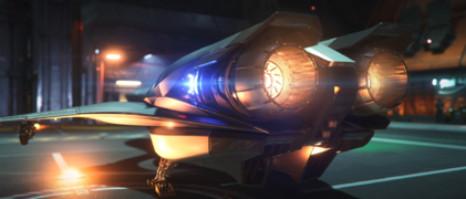 Merlin - Landed in ArcCorp hangar - Rear Port.png