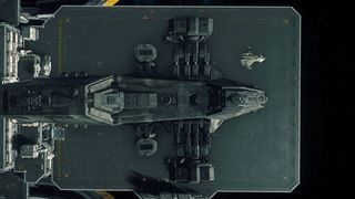 Reclaimer landed at Port Olisar with Gladius.jpg