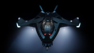 Avenger in darkness with headlight beams.jpg
