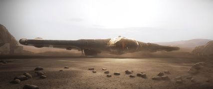 Reliant Kore landed on dusty surface.jpg