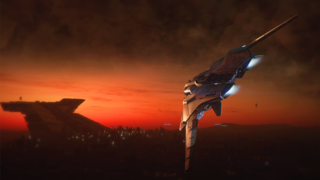 Sabre Comet flying towards Lorville just before sunrise.png