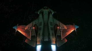 Gladius flying in space - Rear Above.jpg