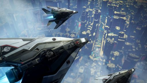 Arrow - Flying in formation over ArcCorp x3 - Above.jpg