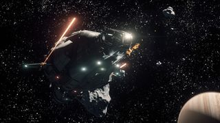 Drake Herald fleeing pirates within the Yela asteroid belt - 36677018203.jpg